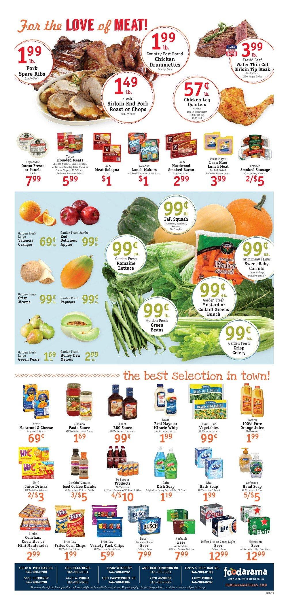 Fresh Grocer Weekly Circular