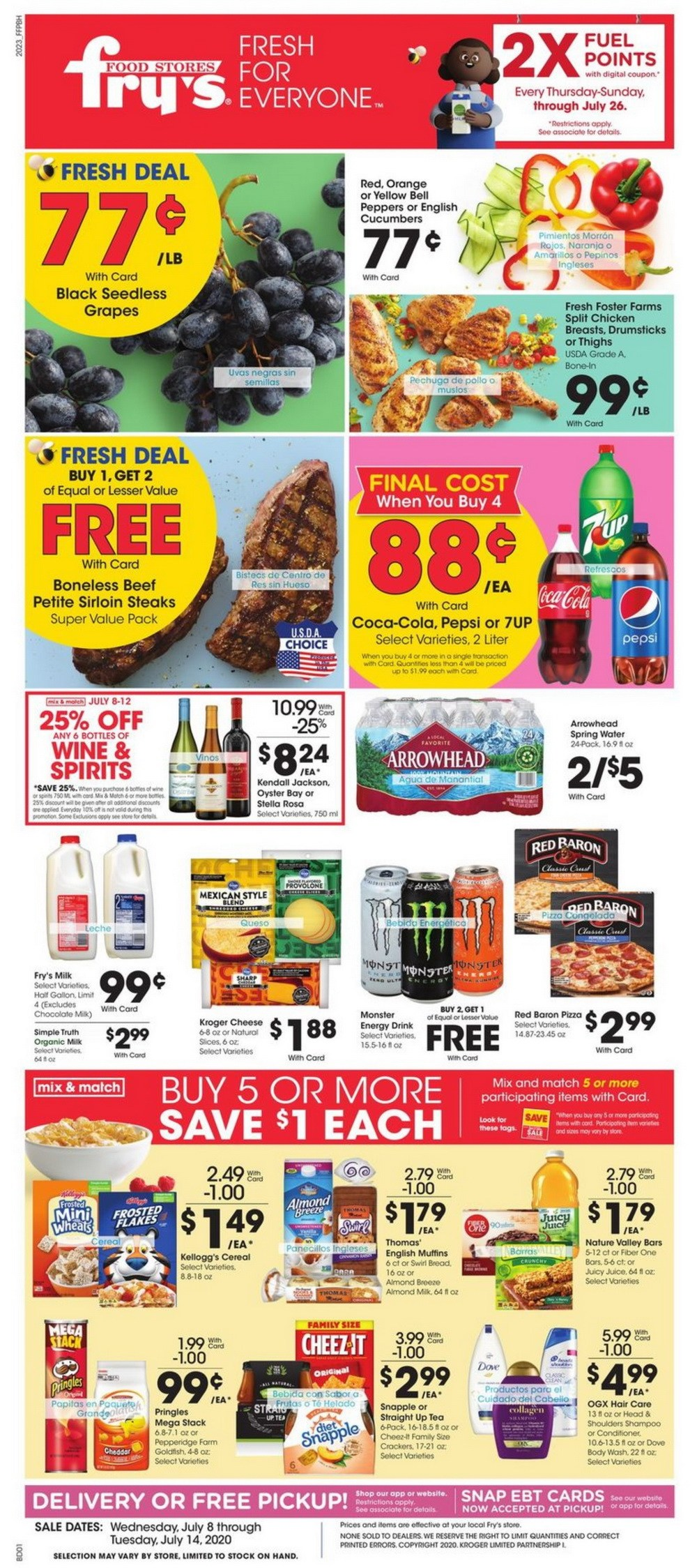 Fry S Food Weekly Ad Jul 08 Jul 14 2020