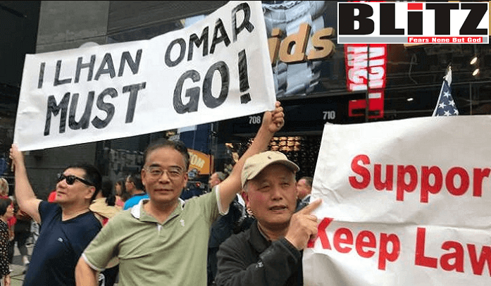 Hundreds of Jews protest against Ilhan Omar