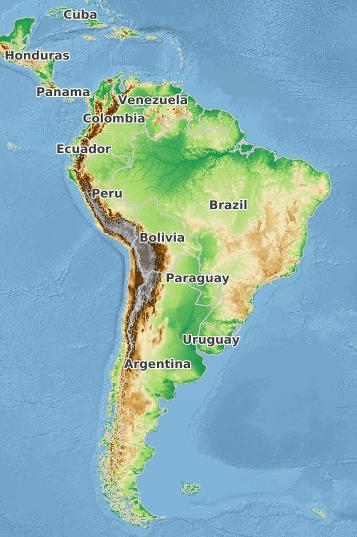 mapa topográfico multi-escala