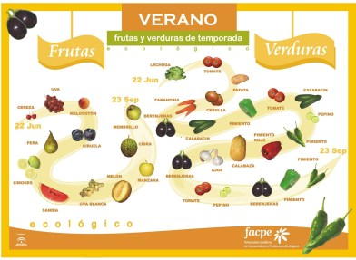 Resultado de imagen de fruta y verdura verano