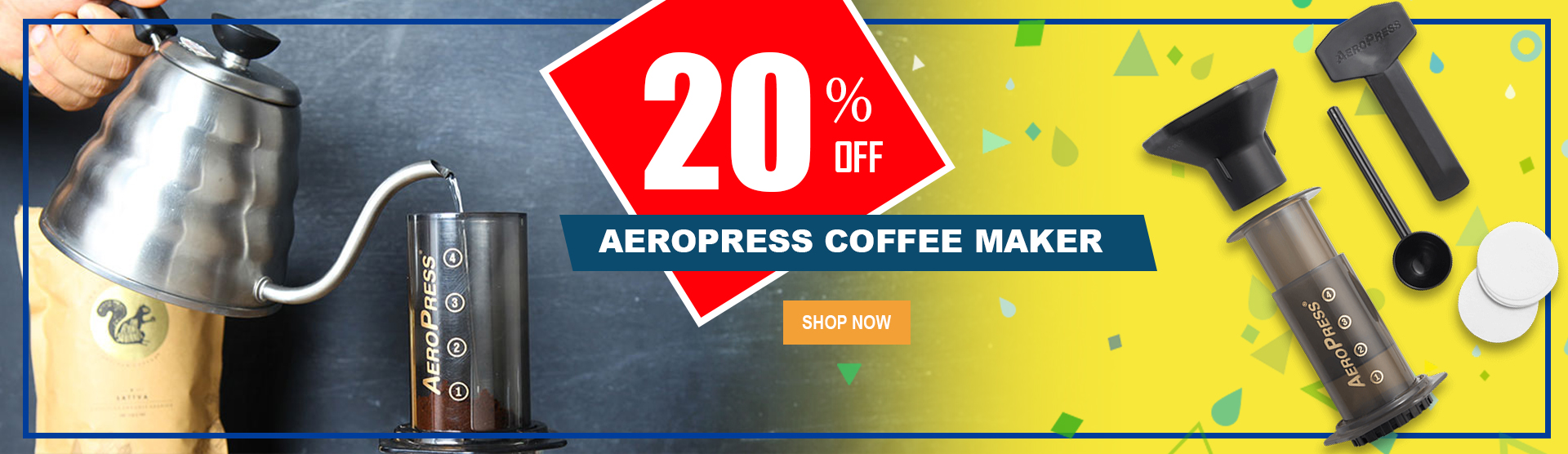 Weelago - Aeropress Coffee Maker 20% off Promo