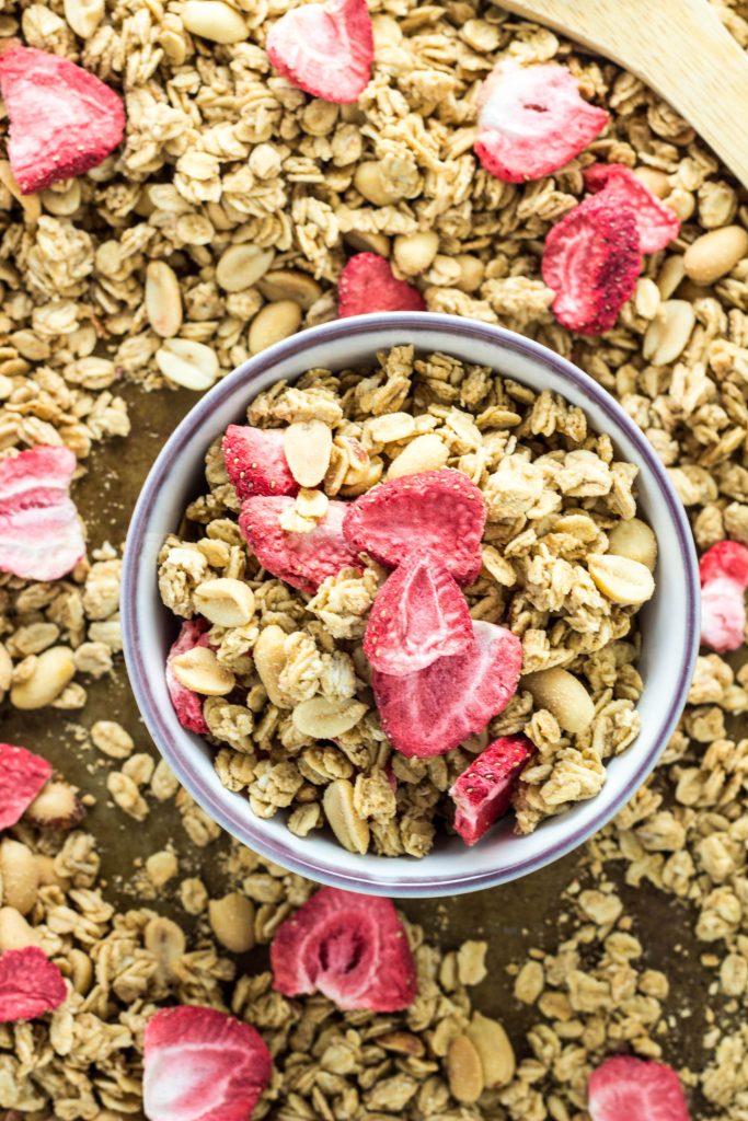 Peanut Butter & Jelly Granola- Vegan & Gluten Free