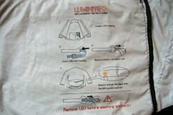 Tout est expliqué à l'intérieur de la veste !