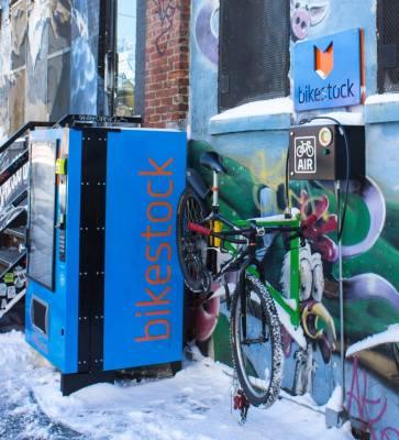 Bikestock Station Bushwick Brooklyn Nyc New York