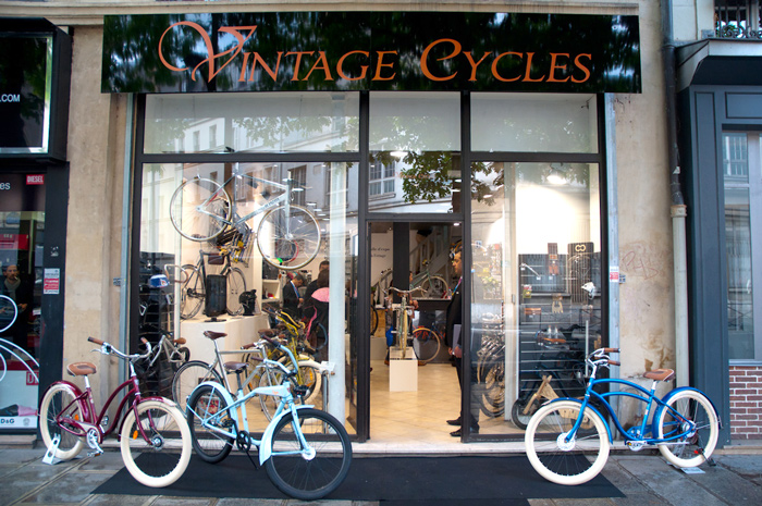 Petit tour à l'inauguration du magasin Vintage Cycles Paris
