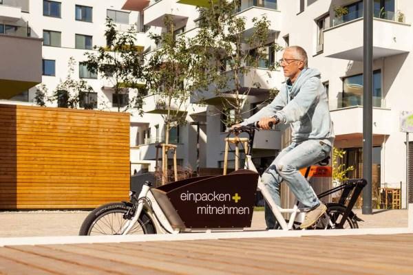 Aspern introduit le 1er service de vélo-cargo en libre-service