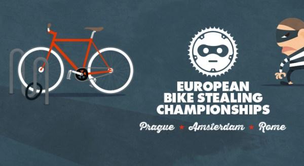 Les premiers championnats européens de vol de vélo