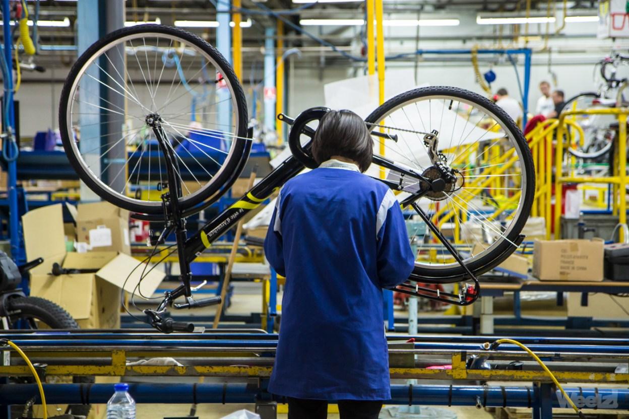 Visite de l'usine Cycleurope à Romilly-sur-Seine