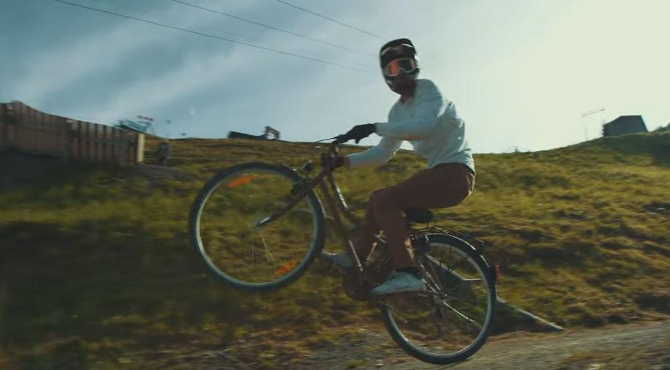 Fabio Wibmer : maltraitance de vélo de ville