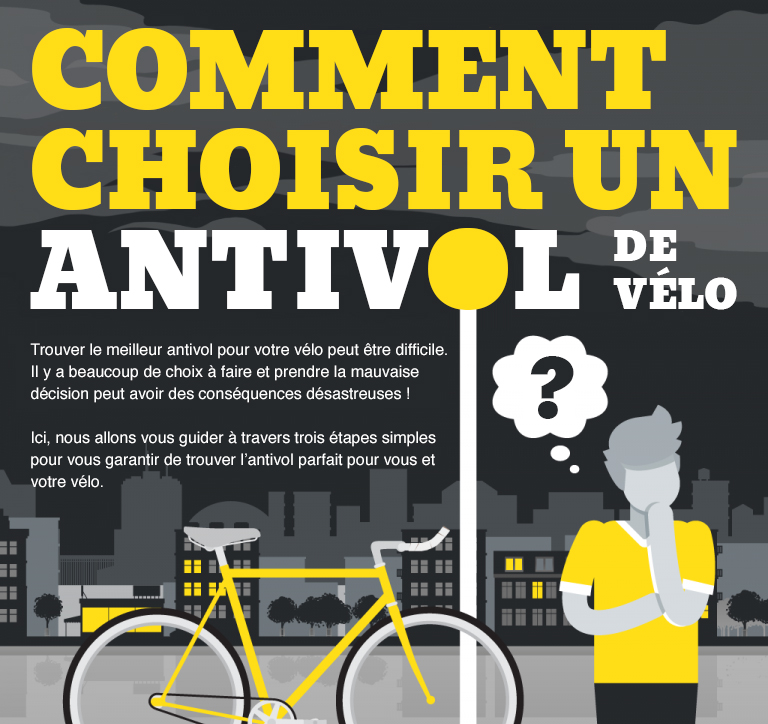 Infographie : Choisir un (bon) antivol vélo