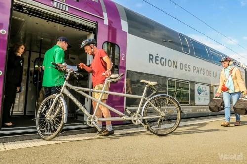 Weelz Inauguration TER Pays De Loire Regio2N V200 Jumbo Velo 2509