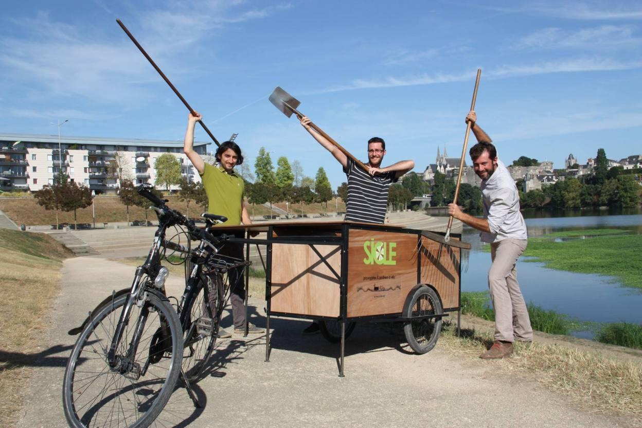 SICLE, paysagistes et jardiniers à vélo à Angers