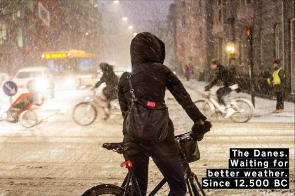 #VikingBiking L'hiver, ce n'est pas possible de se déplacer à vélo...