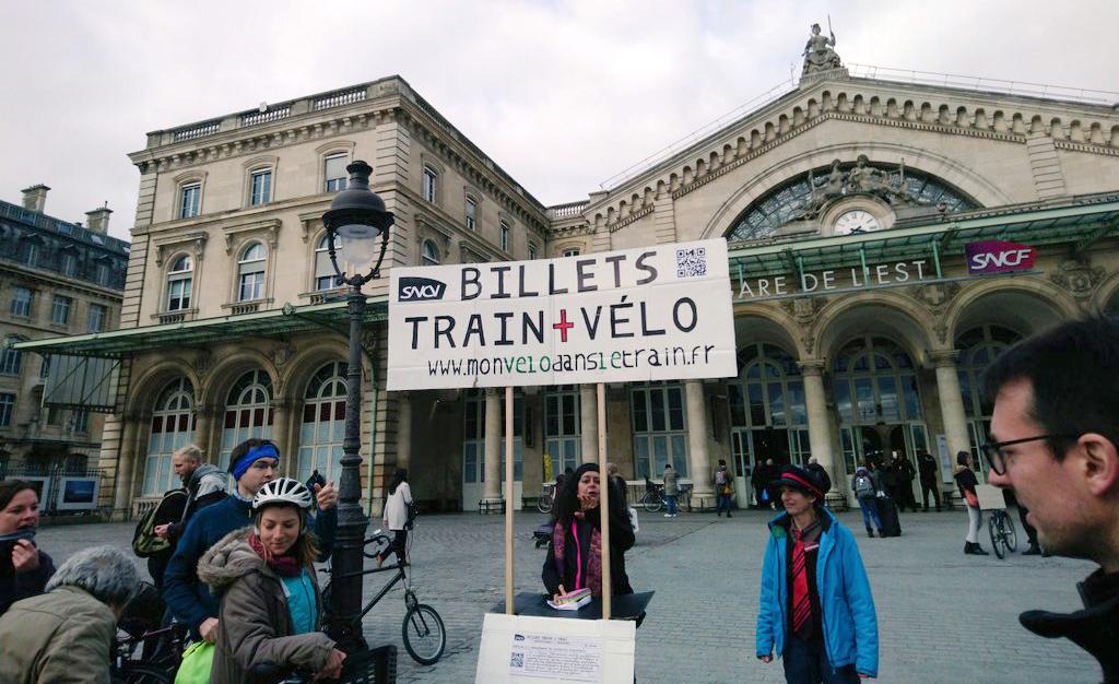 Une pétition pour plus de places vélo dans les trains français