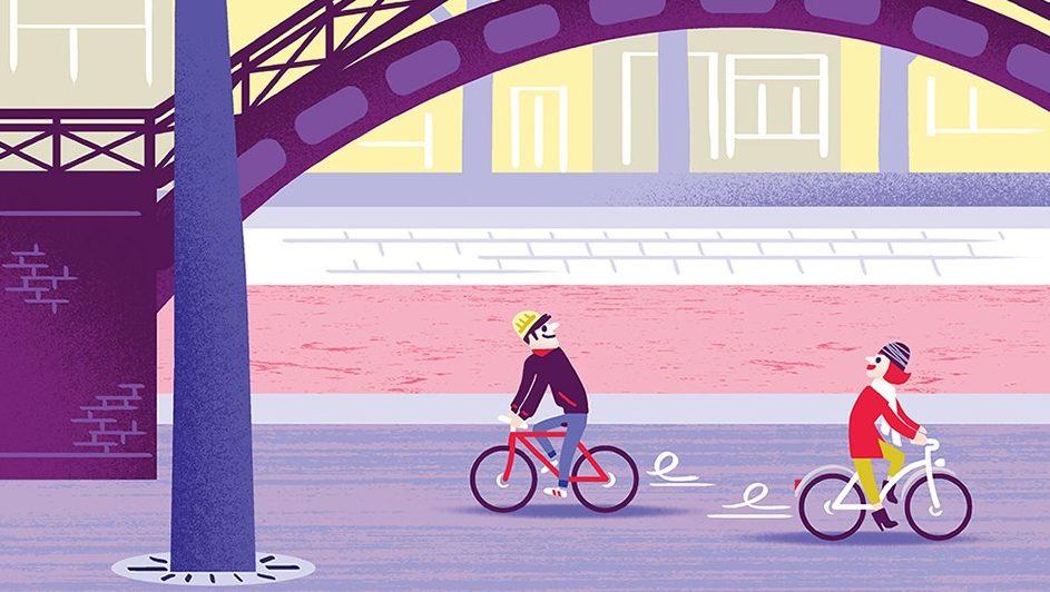 Une illustration vélo de Clod [Le Calendrier de l'avent Vélo 2020]
