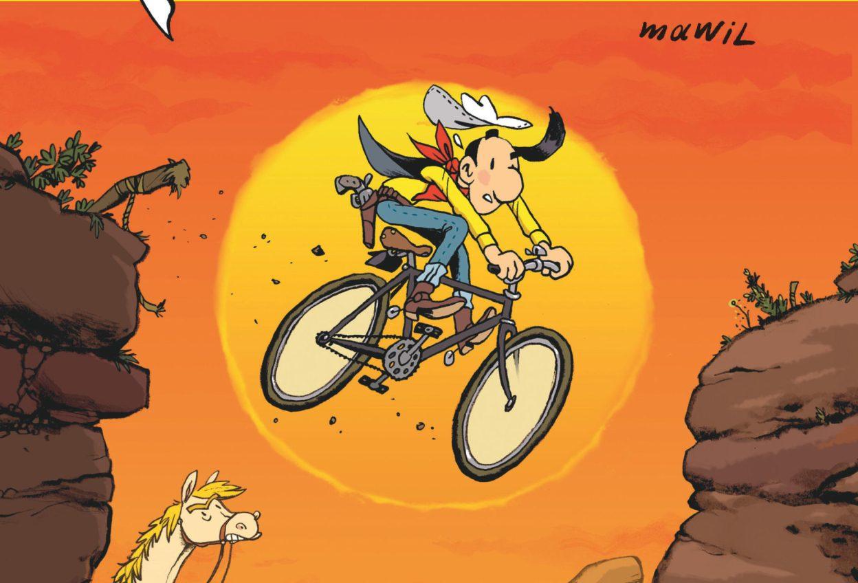 [Lecture] Lucky Luke se recycle et traverse les États-Unis à vélo