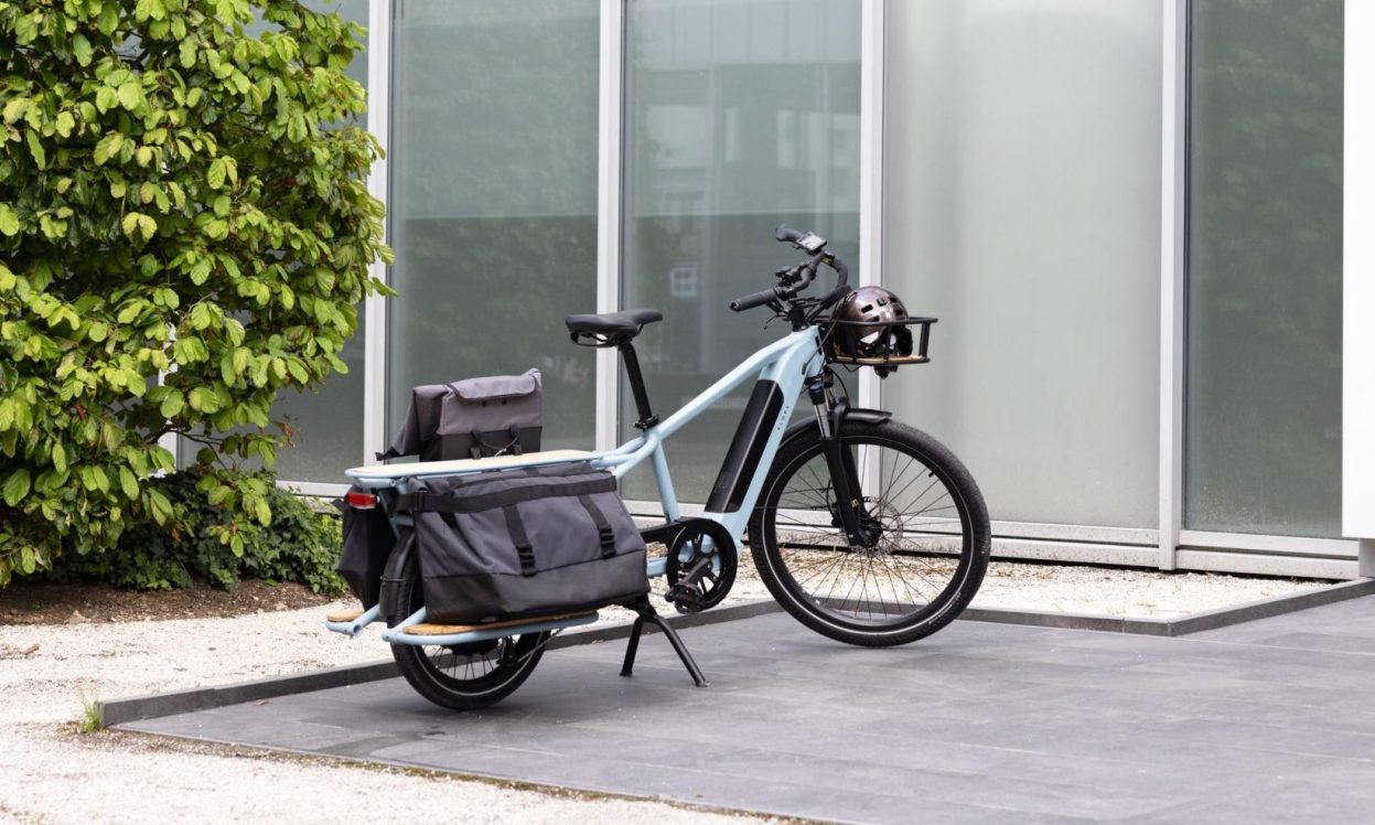 Decathlon tease son futur vélo cargo longtail Elops
