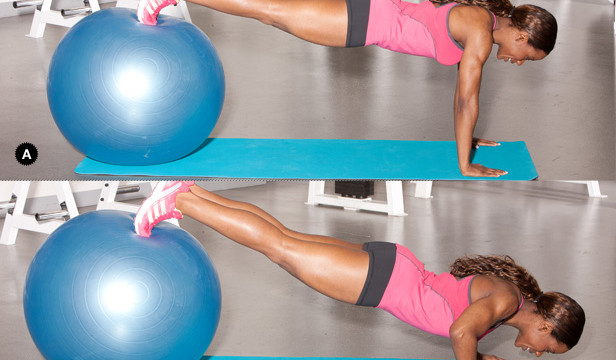 Push up with hip extension
