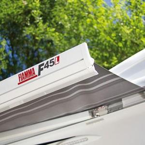Fiamma F45L Awning Canopy 4.5m with Polar White Casing Blue Canopy - 2