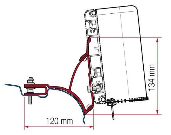 Fiamma T5 & T6 F45 Mounting bracket