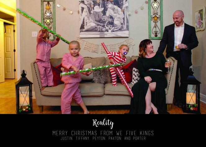 King's perception vs reality Christmas Card