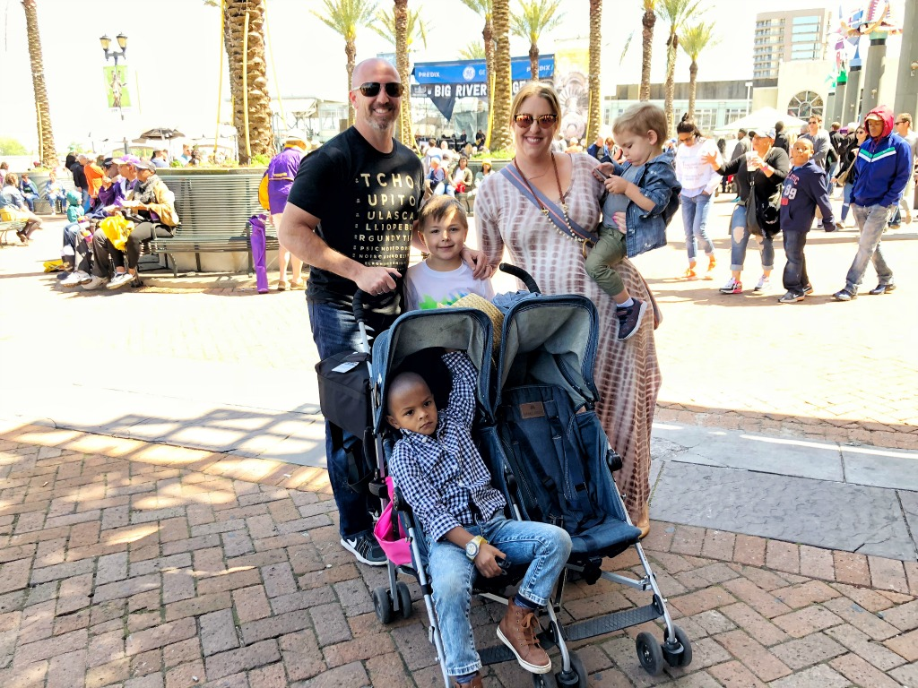 Family picture at French Quarter Festival 2018. Spring Festival Style.