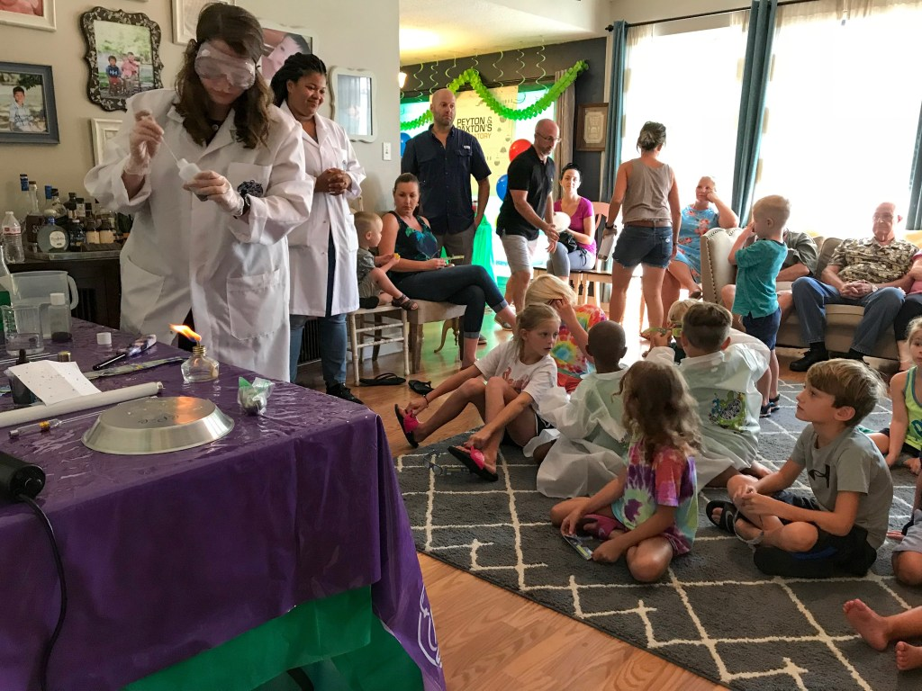Peyton and Paxton's Mad Science Party