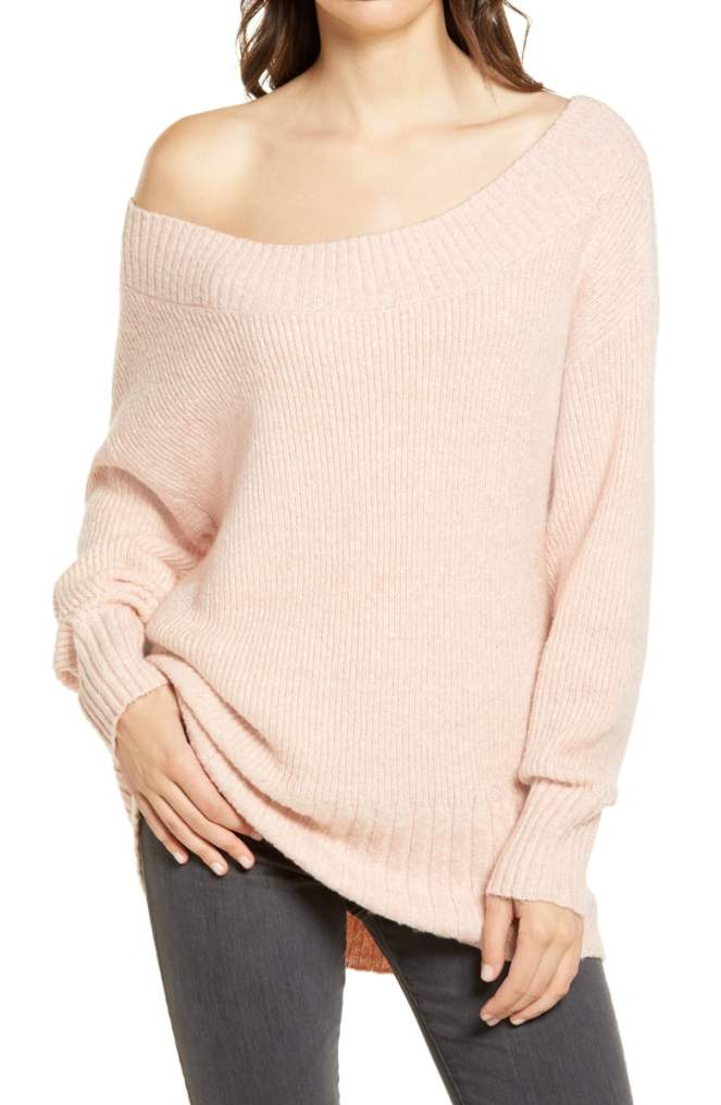 Nordstrom Sale Chelsea28 Off the shoulder ribbed sweater