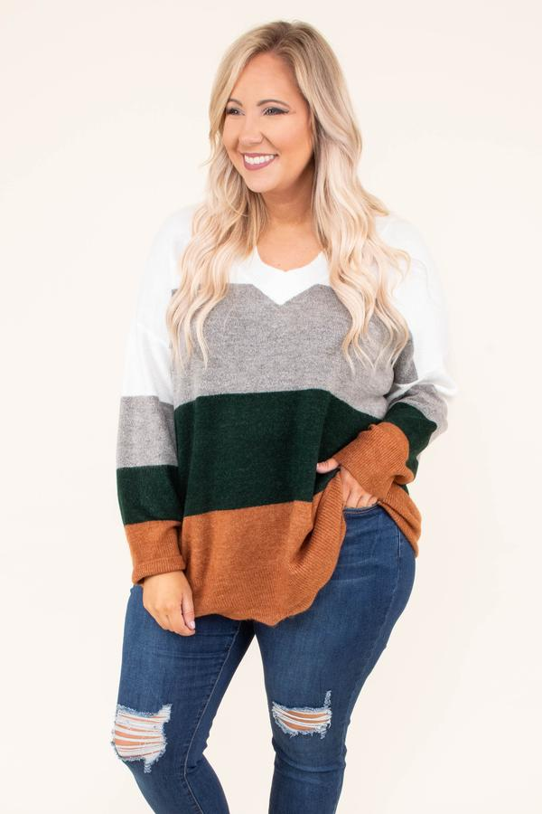 chic sould striped sweater