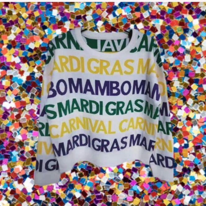 Sparkle City Mardi Gras Sweater