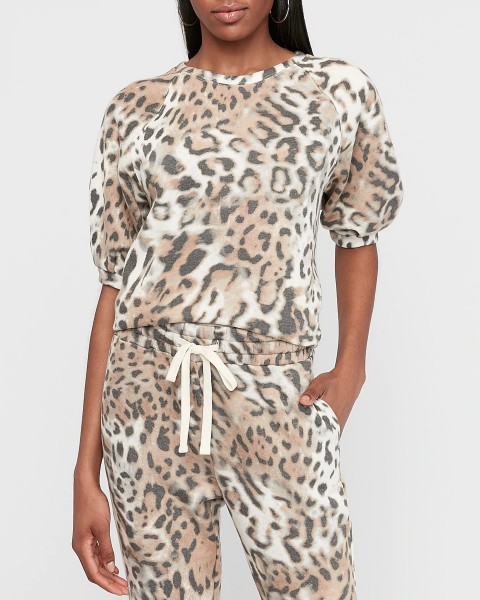 Express Leopard Lounge Set