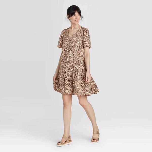 Target Neutral Animal Print Dress