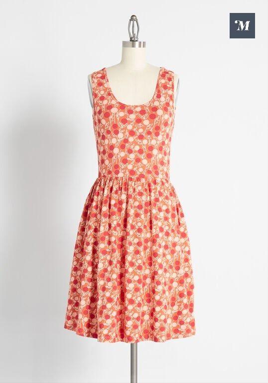 Modcloth Jersey Print Dress