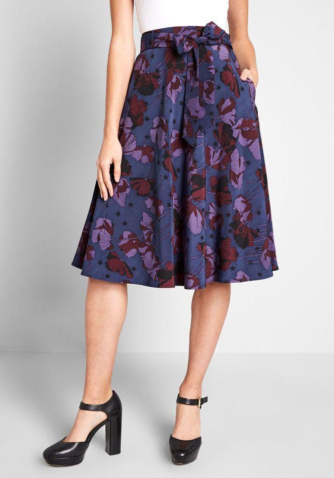 Modcloth Aline skirt in aubergine