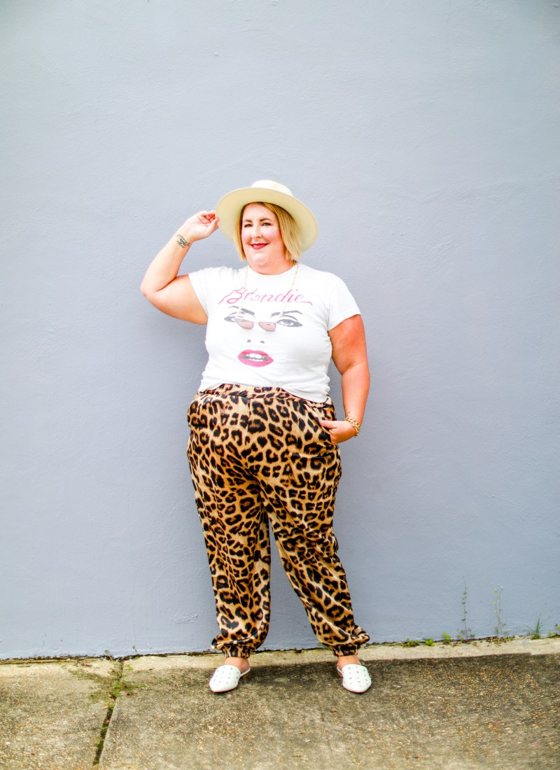Two Ways to Style Leopard Print Joggers