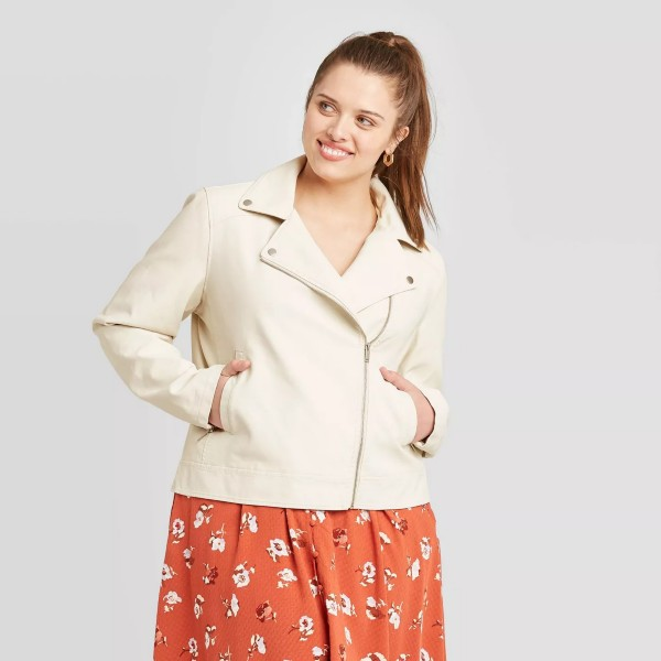 Target White Moto Jacket Ava and Viv