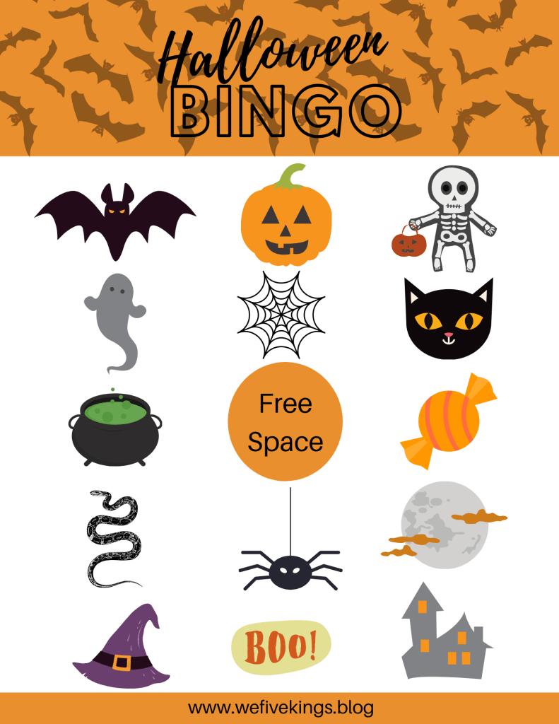 Halloween Bingo Card Free Download
