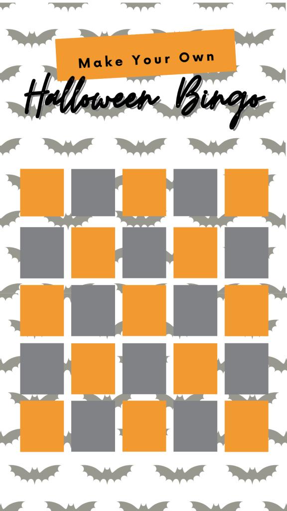 Halloween Bingo Blank Card Free Download