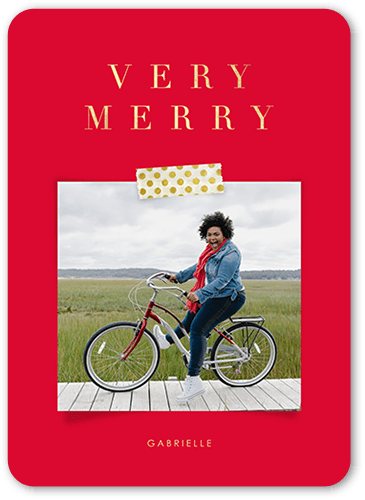 Classic red Shutterfly Christmas Card