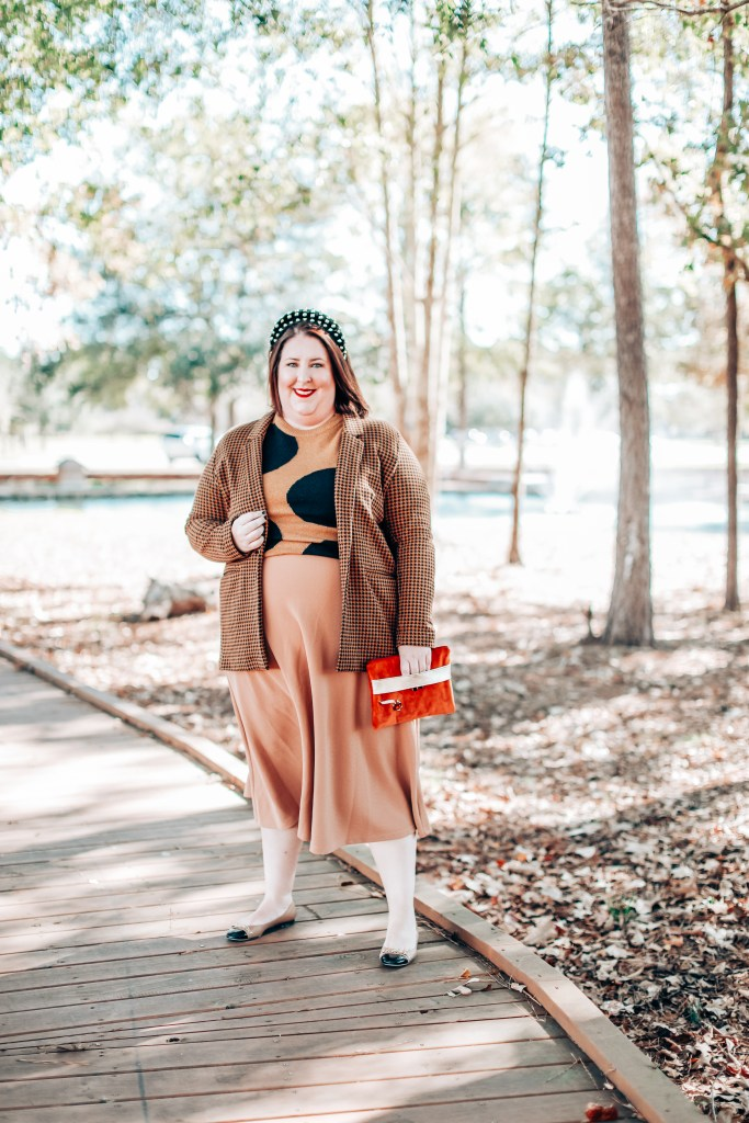 Blazers to Buy Now and Keep Forever: Tiffany in a jersey houndstooth Old Navy Blazer