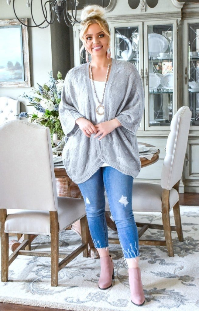 Clearly Perfect Cardigan in Gray