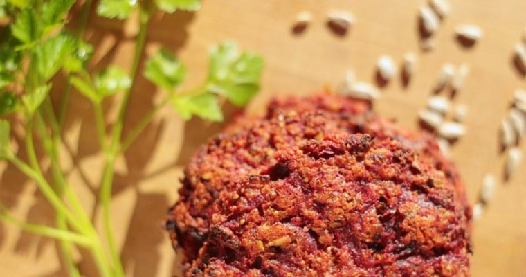 Kotlety z buraka i kaszy jaglanej – pieczone
