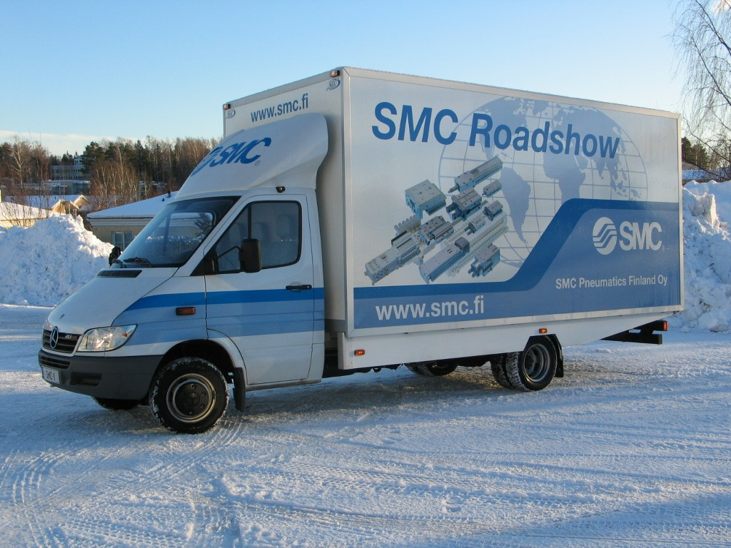 SMC Pneumatics Demoauto roadshow