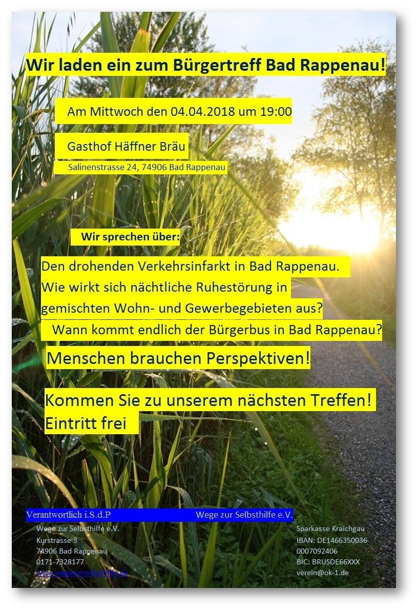 Bürgertreff 04.04.2018 19:00 Uhr
