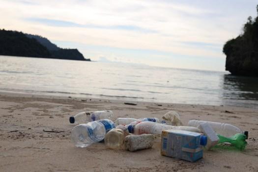 les déchets en plastique