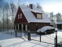 Vakantiehuis in de sneeuw