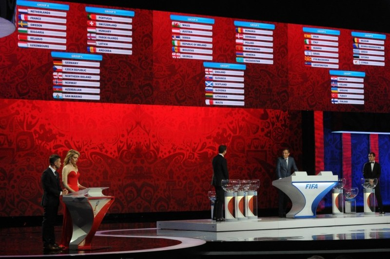 The draw for the 2018 FIFA World Cup took place in St Petersburg's Constantine Palace today