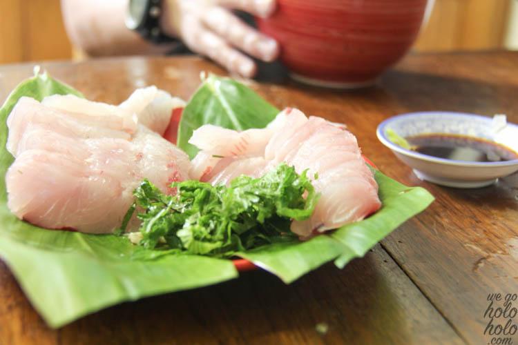 Omilu Sashimi with Shiso