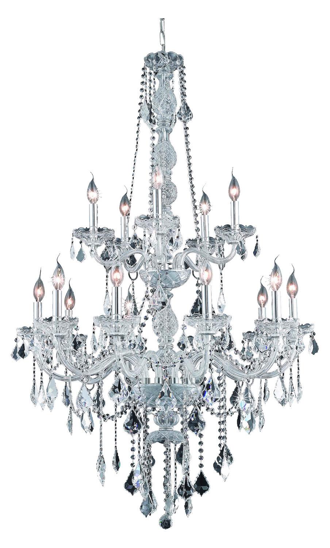 elegant lighting elegant cut clear crystal verona 15 light
